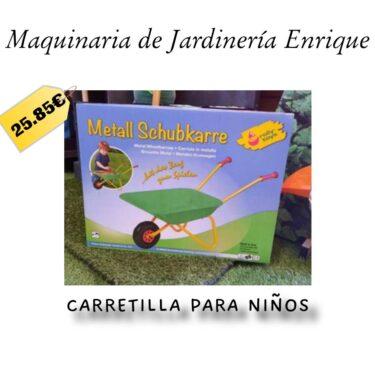 Carretilla para niños - Maquinaria de Jardín Enrique