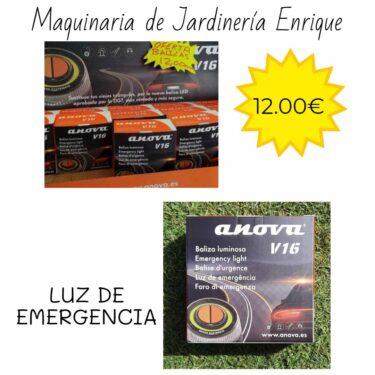Luz de emergencia - Maquinaria de Jardín Enrique